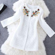 Fashion beaded long-sleeved Coat