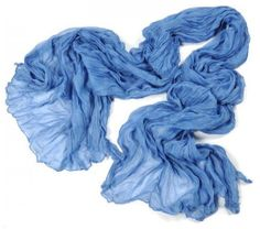 Light Blue Crinkle Scarf by ainsliee on Etsy, $10.00