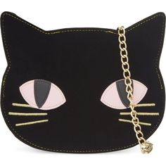 SKINNY DIP Cat clutch ($43) ❤ liked on Polyvore featuring bags, handbags, clutches, purses, accessories, black, handbags & purses, black hand bags, cat purse and man bag