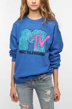 Junk Food MTV Sweatshirt - Blue  #UrbanOutfitters