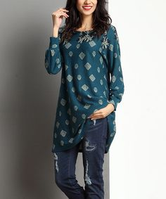 Look at this Emerald Medallion Tunic on #zulily today!