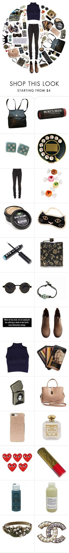 """next tuesday"" by cosmonautical ❤ liked on Polyvore featuring Chanel, Burt's Bees, Salvador Dali, Nudie Jeans Co., Mad et Len, Kala, Moleskine, H&M, Forever 21 and Kate Spade"
