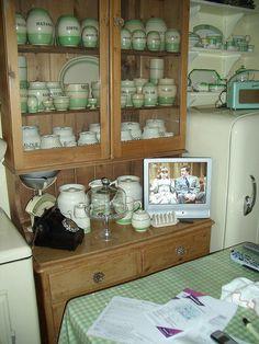 Vintage green canister set