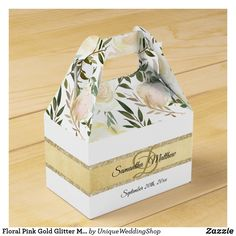 Check out Zazzle's variety of Monogram favor boxes! Browse all of our wonderful designs and get your favor bag today! Wedding Gift Wrapping, Wedding Favor Boxes, Pink Wedding Theme, Floral Wedding, Anniversary Favors, Favor Favor, Monogram Wedding, Pink Gifts, Pink And Gold