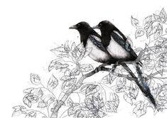 Two for Joy Natalie Hughes-Narborough Watercolour 2017 http://ift.tt/2BD1Ai5