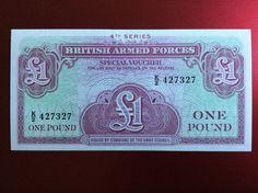 £1 British Forces Banknote Serial Number K/2 427327 Personalised Initial K