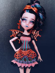 RESERVED for Kelsey Waddell - Monster High Dracubecca OOAK Repaint Custom…