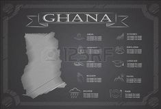 infografía Ghana, datos estadísticos, de las vistas.