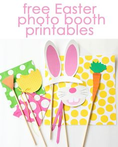 Free Easter photo booth printables! PRINT & use in Easter baskets!! :)