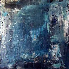 abstract painting color field art . minimalist modern large painting on canvas 48x48 / ELSTON
