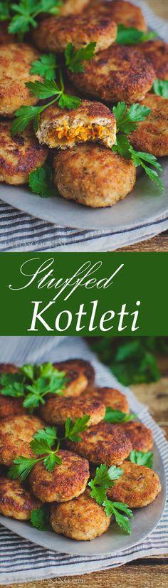 Stuffed Kotleti...Russian stuffed meatballs...simple and yummy!