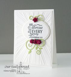 ODBDSLC256  Our Daily Bread Designs Stamp set: Glory, Our Daily Bread Designs Custom Dies:Sunburst Background, Fancy Foliage