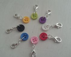 Button stitch markers (set of 4)