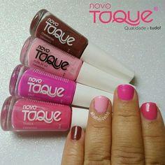 Quando a gente acha os esmaltes que estava querendo e não sabe qual usar primeiro  Esmaltes @novo_toque nas cores Charmosa, Flor de Lyz, Bali e Thaila.Já usou algum deles?#itsdaicoelho#bblogger #novotoque #esmalte #esmaltes #swatche #unhasnaturais #unhascurtas #rosa #love #follow #linda #garotasesmaltadas #nail #unhasdodia #unhasdasemana