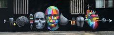 by Okuda - Parts of the body for sale -  Mexico City