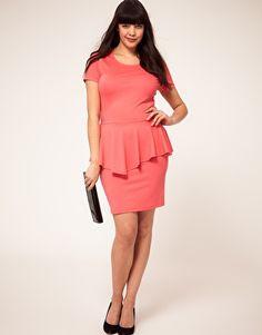 ASOS CURVE Exclusive Dress with Peplum
