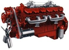 Presenting one of the largest gasoline engines ever produced by General Motors: the 702 cubic-inch Twin Six used in GMC trucks of the Here's more on this fascinating dinosaur. Cool Trucks, Chevy Trucks, Cool Cars, Kenworth Trucks, Chevy Pickups, V12 Engine, Truck Engine, General Motors, Michigan