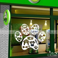 Pet Shop Vinyl Wall Sticker Pet Pawprint Design Mural Wall Decal Pet Salon Stcker Grooming Window Glass Door Home Decoration Dog Grooming Shop, Dog Grooming Salons, Dog Grooming Business, Dog Shop, Pet Spa, Dog Cafe, Pet Hotel, Cheap Wall Stickers, Pet Clinic