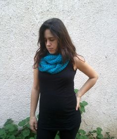 Bright blue infinity scarf 4 options shawl shawl shrug by noavider, $27.00