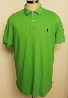 RLX Ralph Lauren Mens Performance Polo Shirt Green Size XL NICE #RLXRalphLauren #PoloRugby