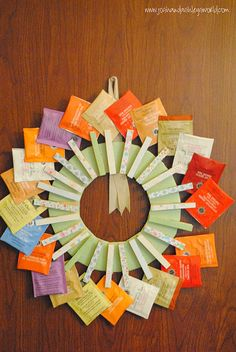 DIY Tea Wreath, thinking great gift! Great idea for the kids to make for Grandma.