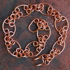 Chainmaille Lace Wire Wrapped Copper Links Bracelet