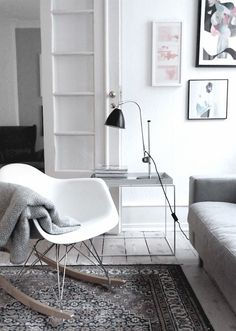 cultfurniture.com Eames-style rocking chair