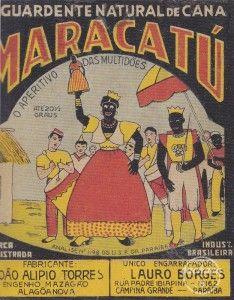 Aguardente de cana Maracatú | Rótulos de Cachaça