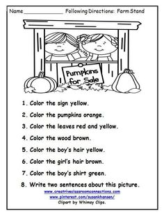 This fun activity gives students practice with color words