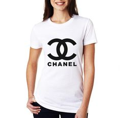 Channel Logo Women White Shirt XS S M L XL Rare by CahyaAbadi, $22.50