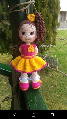 Knitted Dolls, Crochet Dolls, Crochet Hats, Stitch Doll, Crochet Unicorn, Crochet Animal Patterns, Stuffed Toys Patterns, Amigurumi Doll, Beautiful Dolls