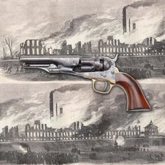 Colt M1862 Police revolver - 150 years ago, the Colt factory had a bad day.  It burned down. Believed started by Confederate agents, the Colt fire in 1864 put a real crimp in the company's percussion revolver production for the remainder of the year. But one gun that didn't burn up in Hartford, CT was this engraved Colt .36 caliber revolver.  This five-shot handgun probably sold for an elevated price in the high demand market of 1864. At the NRA National Firearms Museum in Fairfax, VA.