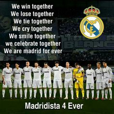 Find images and videos about forever, real madrid and madridista on We Heart It - the app to get lost in what you love. Real Madrid Club, Real Madrid Football, Football Is Life, Best Football Team, Psg, Soccer Quotes, Soccer Memes, Football Memes, Sport Quotes