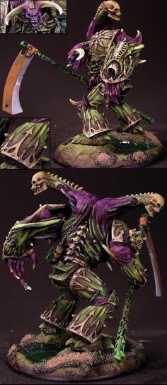 Purple and Green Nurgle Demon Prince now this is definitely done in my style. :-)