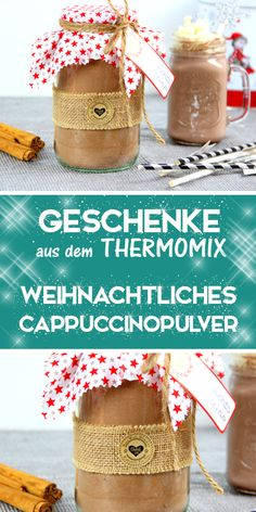 Make your own Christmas cappuccino powder in the Thermomix. Gifts from the kitchen. - This cappuccino powder is prepared super quickly in the Thermomix. It is a great gift idea or souve - Make Your Own, Make It Yourself, How To Make, Great Christmas Gifts, Great Gifts, Christmas Christmas, Christmas Ideas, Cappuccino Pulver, Cappuccino Machine
