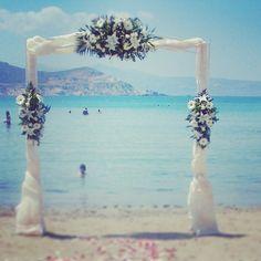 Plaka Beach Wedding Reception, Naxos, Greece.