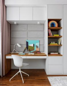 """Girls room in """"RedSide Apartments"""" by Ab-architects Kids And Parenting, Office Desk, Corner Desk, Interior, Furniture, Moscow Russia, Kids Rooms, Apartments, Architects"""