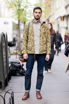 Street Style: The Camo-Print Jacket