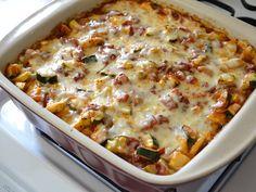 Baked Vegetable Polenta Casserole