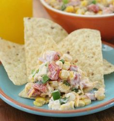 Corn dip for your next BBQ. Great to make ahead so you dont miss out on the party.