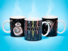 Liven up your mornings with a Star Wars mug that changes colour when you pour liquid into it. The lightsabers and BB-8s emerge on the mug as though controlled by The Force.