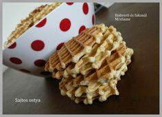Habverő és fakanál: Sajtos ostya Waffles, Breakfast, Food, Morning Coffee, Meal, Essen, Hoods, Meals, Waffle