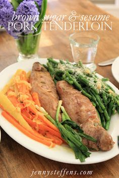 Marinated Pork Tenderloin with Vegetables - Perfect Simple and Fresh Supper