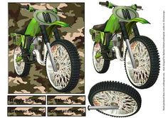 Motor Cross Camouflage Topper with Decoupage on Craftsuprint - Add To Basket!