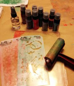 First you need to gather your supplies.  I used my Gelli plate, Tim Holtz Distress Paint, Tim Holtz's new layering stencils,  and a brayer. Monday Tutorial: Gelli printing with Cyndi - Paper Craft Planet Blog — Paper Craft Planet Blog