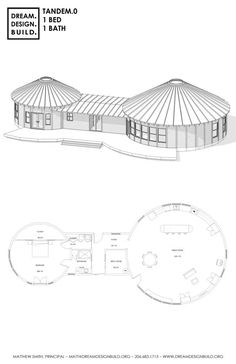 Building A House Ideas Floor Plans Beds Printing Videos Vase Key: 4648520533 Silo House, Mud House, Round House Plans, House Floor Plans, Building A Yurt, Building A House, Green Building, Tandem, Ideas Cabaña