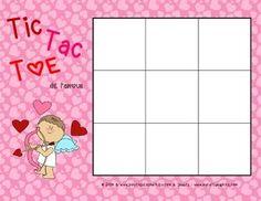 FREE Tic Tac Toe de la St-Valentin (Valentine's Day Tic Tac Toe)