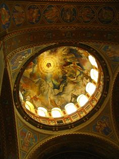 Under the dome of the Votive Church, Szeged, Hungary