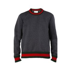 GUCCI Web Jersey Sweater (83610 RSD) ❤ liked on Polyvore featuring men's  fashion, men's clothing, men's sweaters, grey, gucci mens sweater, mens  grey ...