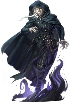 Master of shadow at the college. Although he wouldn't have white hair and he would look younger. The magic would have turned his eyes a dark cloudy red and his hair would most likely be black regardless of his race
